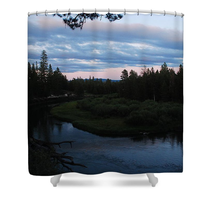 Sunset Shower Curtain featuring the photograph Serenity by Michael Merry