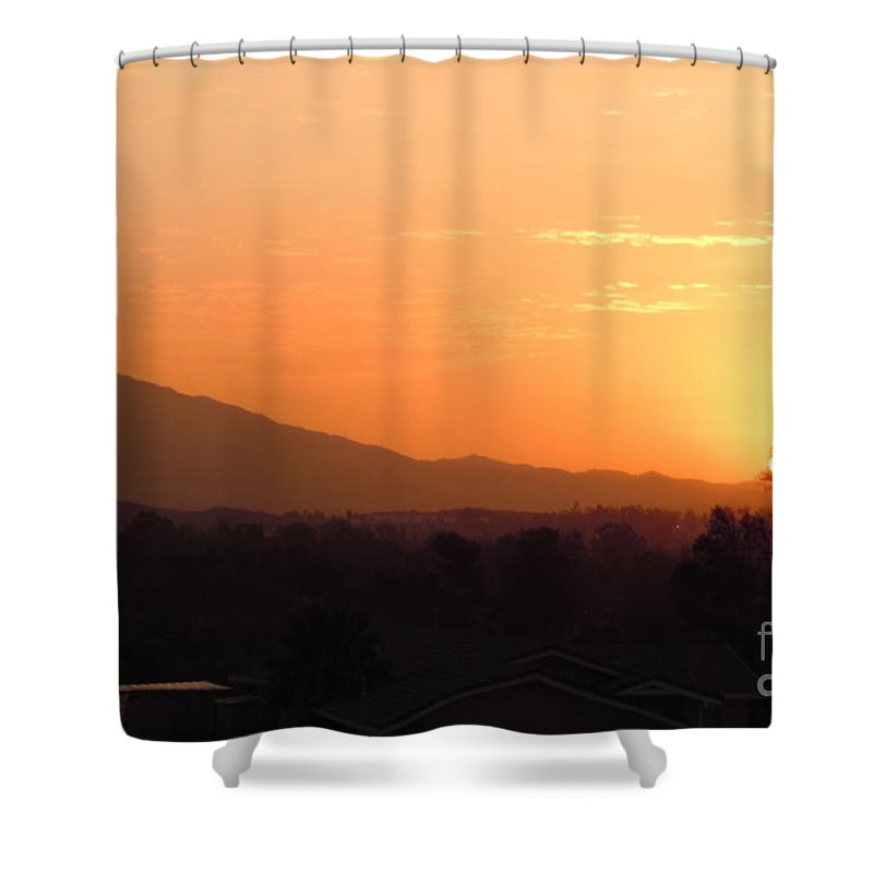 Sun Shower Curtain featuring the photograph Serenity On Fire by Customikes Fun Photography and Film Aka K Mikael Wallin