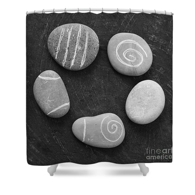Stones Shower Curtain featuring the photograph Serenity Stones by Linda Woods
