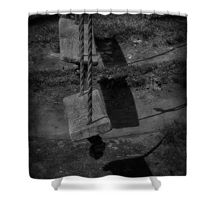 Swings Shower Curtain featuring the photograph Settled Sway by The Artist Project