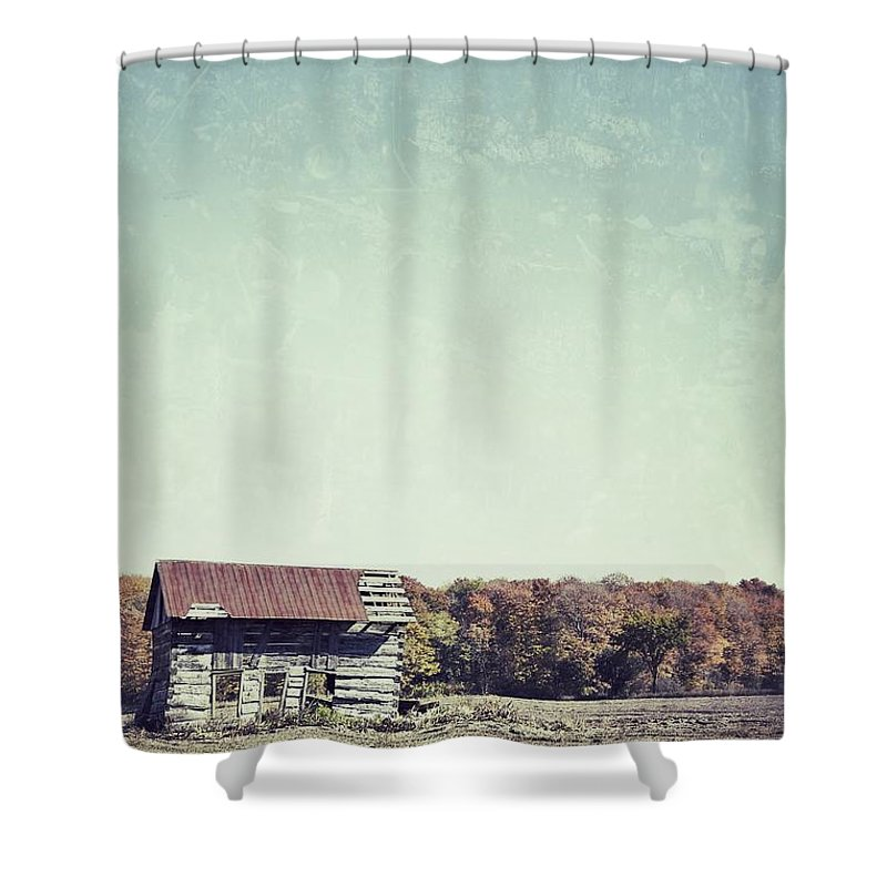 Shack Shower Curtain featuring the photograph Shackn Up by Traci Cottingham