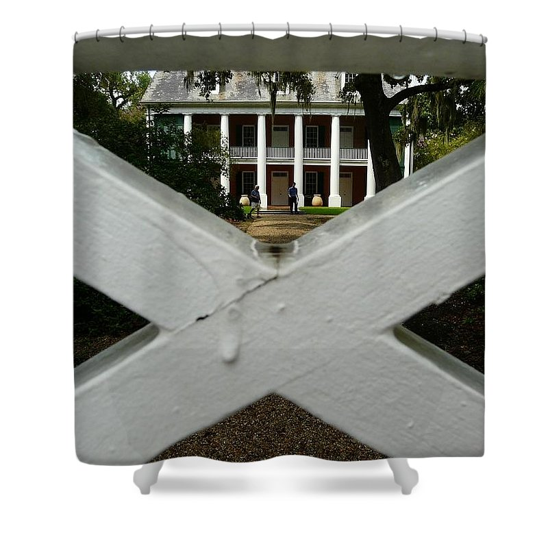 Shadows On The Teche Shower Curtain featuring the photograph Shadows X On The Teche by Rdr Creative