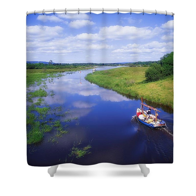 Ballinamore Ballyconnell Canal Shower Curtain featuring the photograph Shannon-erne Waterway by The Irish Image Collection