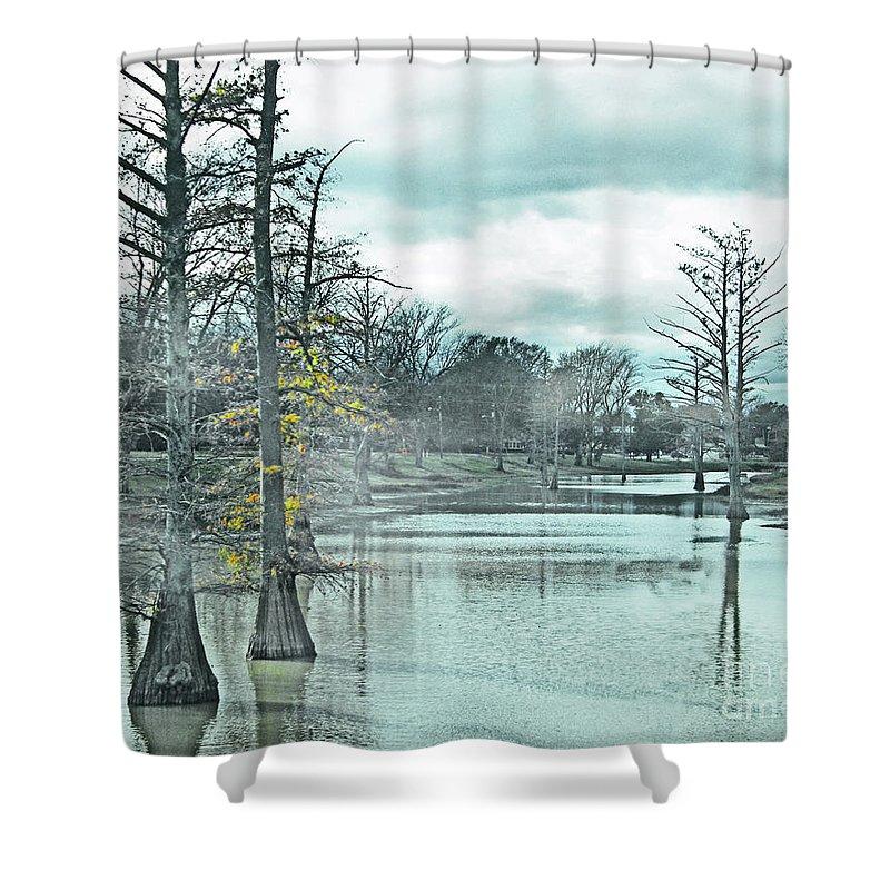 Shaw Shower Curtain featuring the digital art Shaw Mississippi by Lizi Beard-Ward