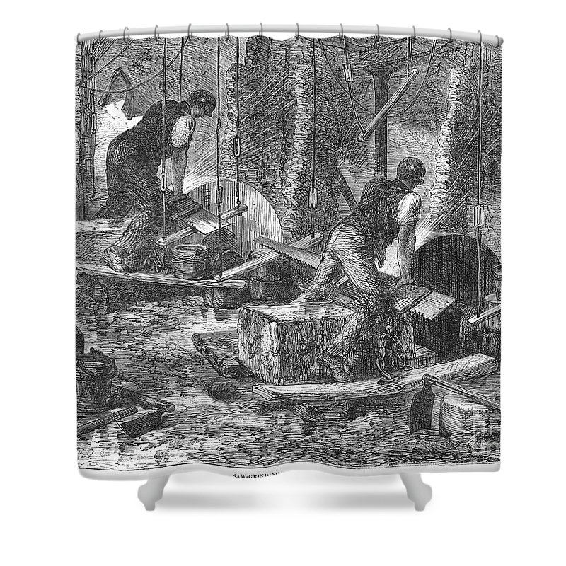 1865 Shower Curtain featuring the photograph Sheffield: Factory, 1865 by Granger