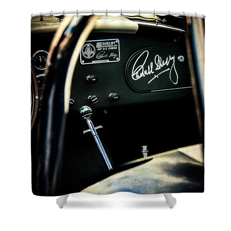 Shelby Cockpit Shower Curtain featuring the photograph Shelby Cockpit by Paul Bartell