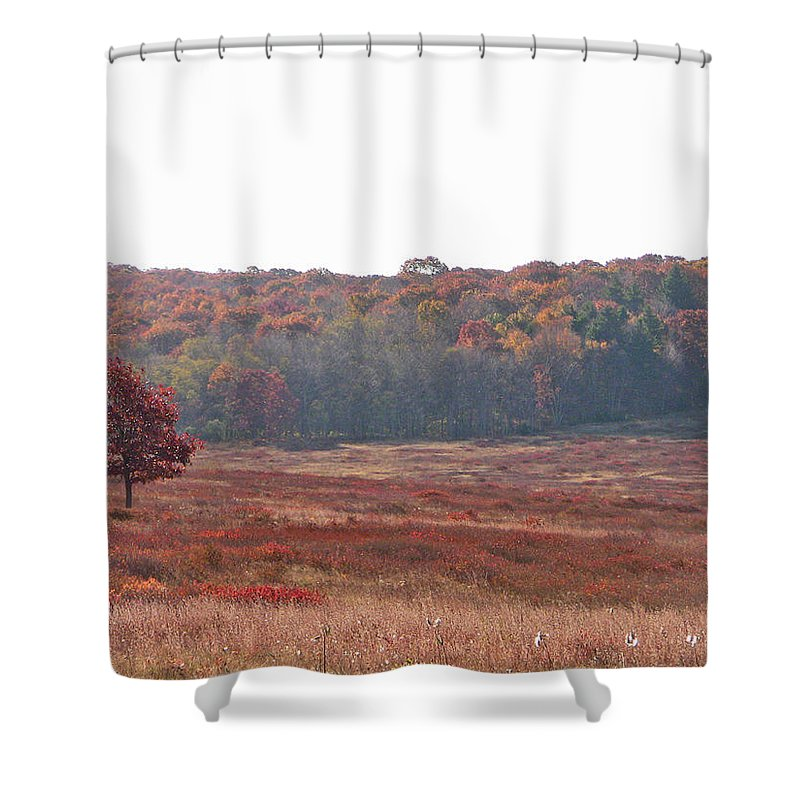 Nature Shower Curtain featuring the photograph Shenandoah Plain by Shirin Shahram Badie