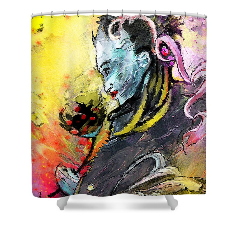 Shiva Diva Shower Curtain For Sale By Miki De Goodaboom