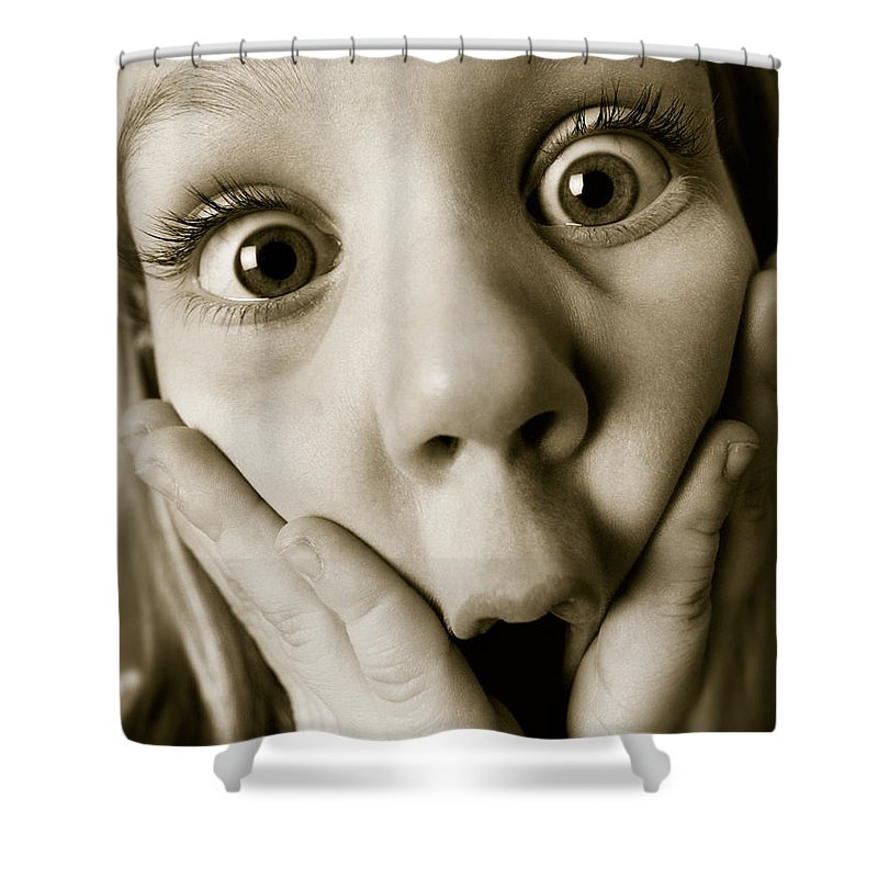 Light Shower Curtain featuring the photograph Shock And Awe by Darwin Wiggett