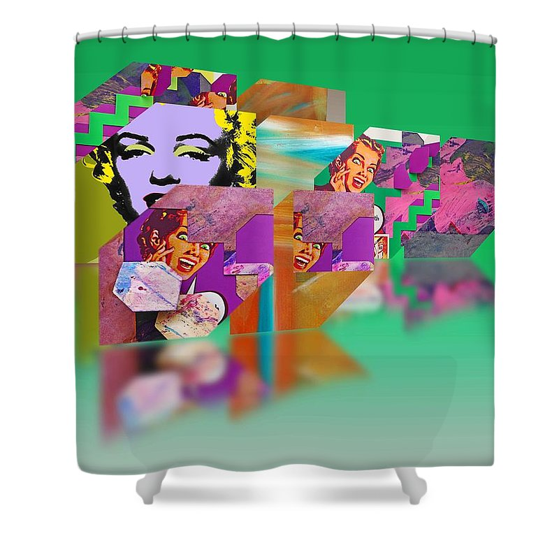 Scream Shower Curtain featuring the painting Shocking Green by Charles Stuart