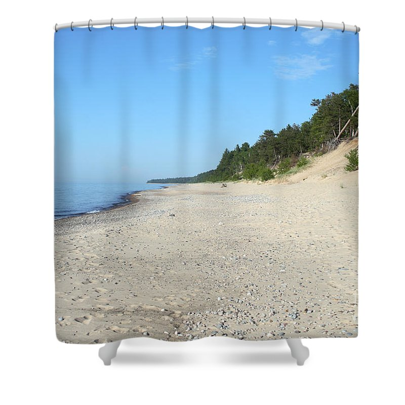 National Park Shower Curtain featuring the photograph Shore Of Lake Superior by Ted Kinsman