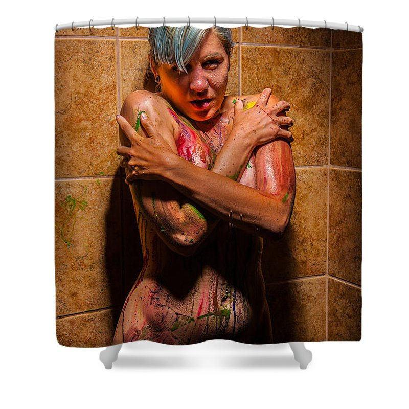 Nude painted shower curtains