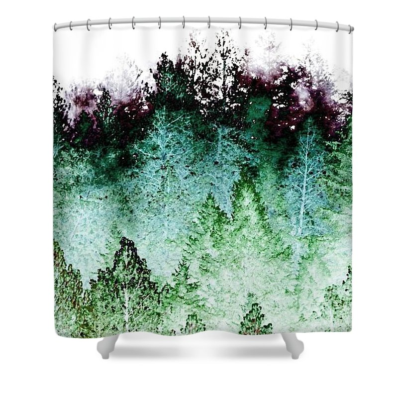 Shrouded In Fog Shower Curtain featuring the digital art Shrouded In Fog by Will Borden