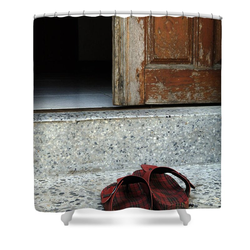 Sign Of Respect Shower Curtain featuring the photograph Sign Of Respect by Bob Christopher
