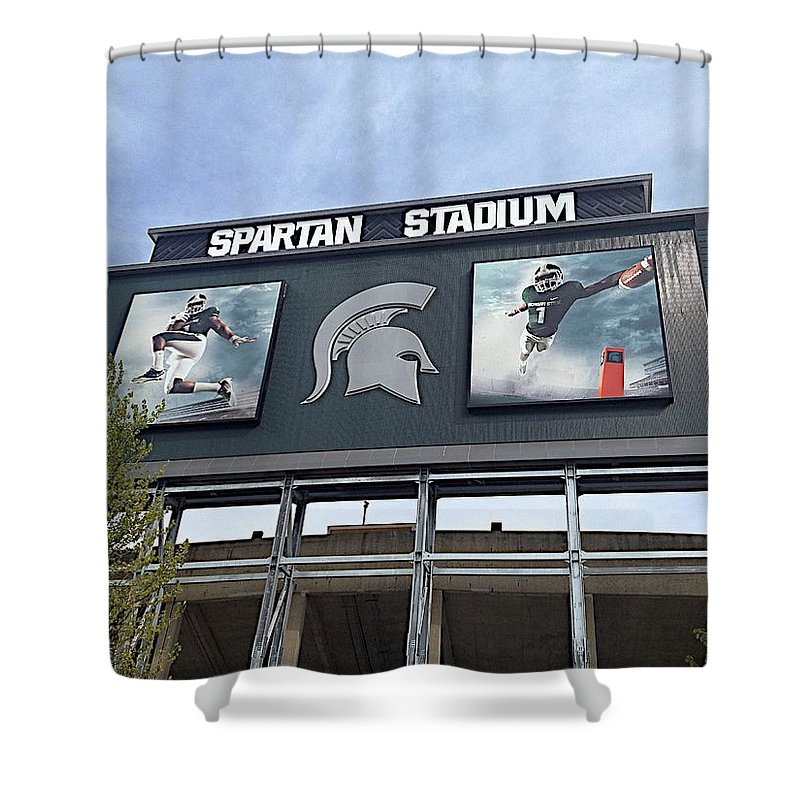 Athletics Shower Curtain featuring the photograph Signpost by Joseph Yarbrough