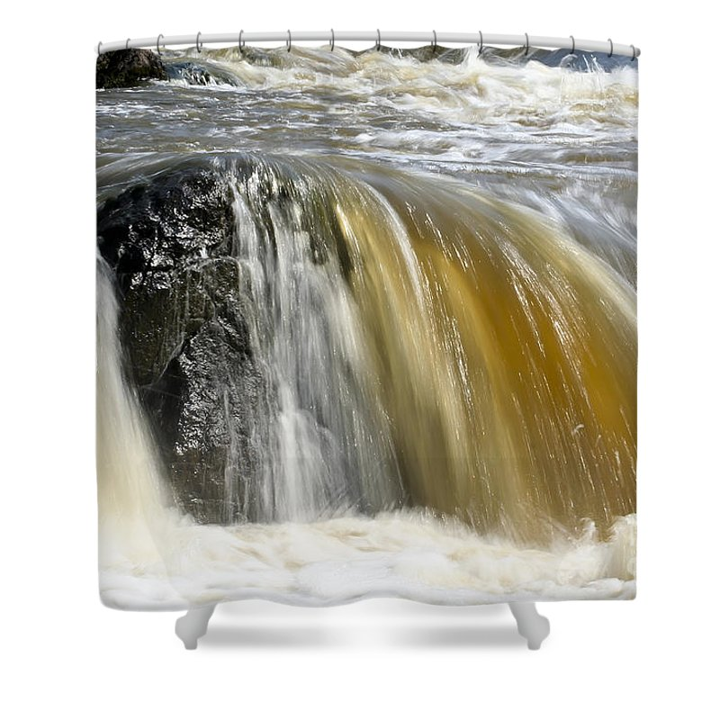 Rapids Shower Curtain featuring the photograph Silky Waters by Teresa Zieba