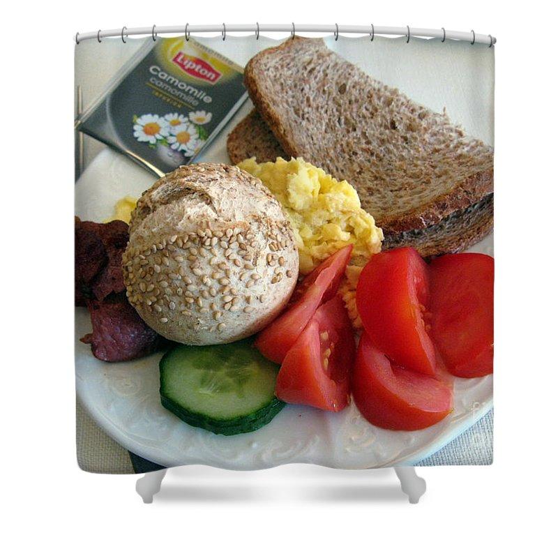 Food Shower Curtain featuring the photograph Simple Pleasures by Ausra Huntington nee Paulauskaite