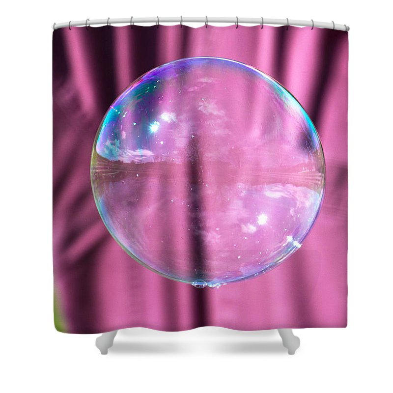 Bubble Shower Curtain featuring the photograph Simple Reflections by Betsy Knapp