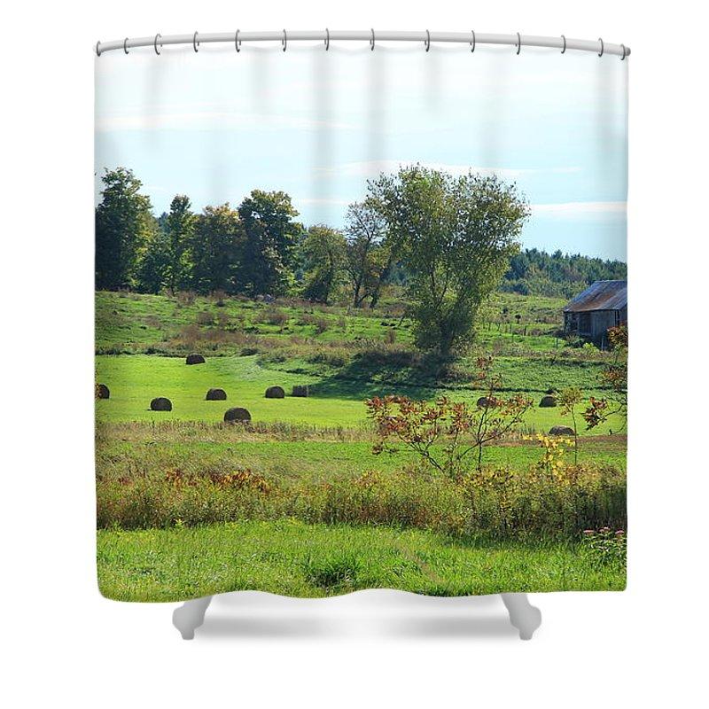 Vermont Shower Curtain featuring the photograph Simply Vermont by Deborah Benoit