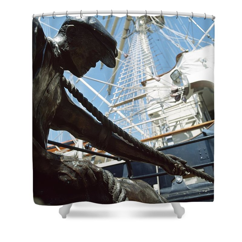 Outdoors Shower Curtain featuring the photograph Sir John Rogersons Quay, Dublin by The Irish Image Collection
