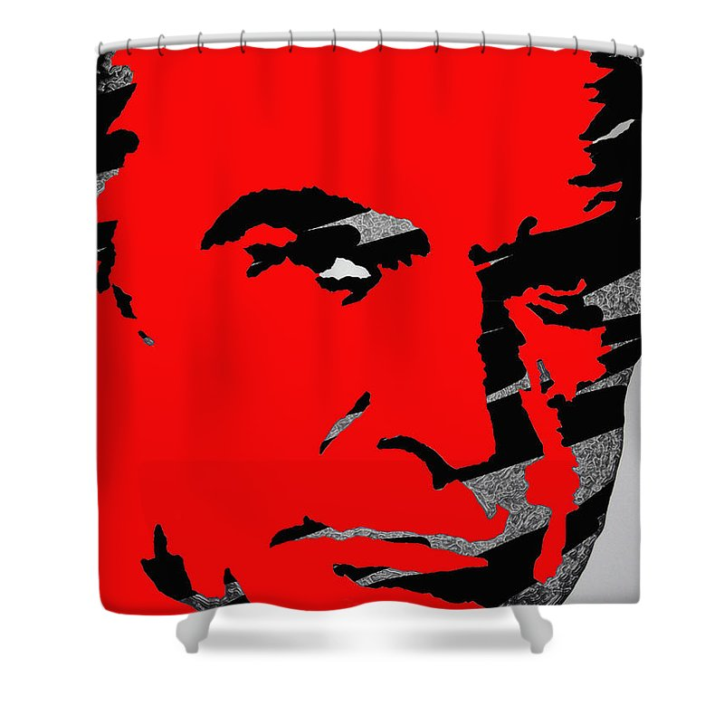James Bond Shower Curtain featuring the photograph Sir Sean Connery by Robert Margetts