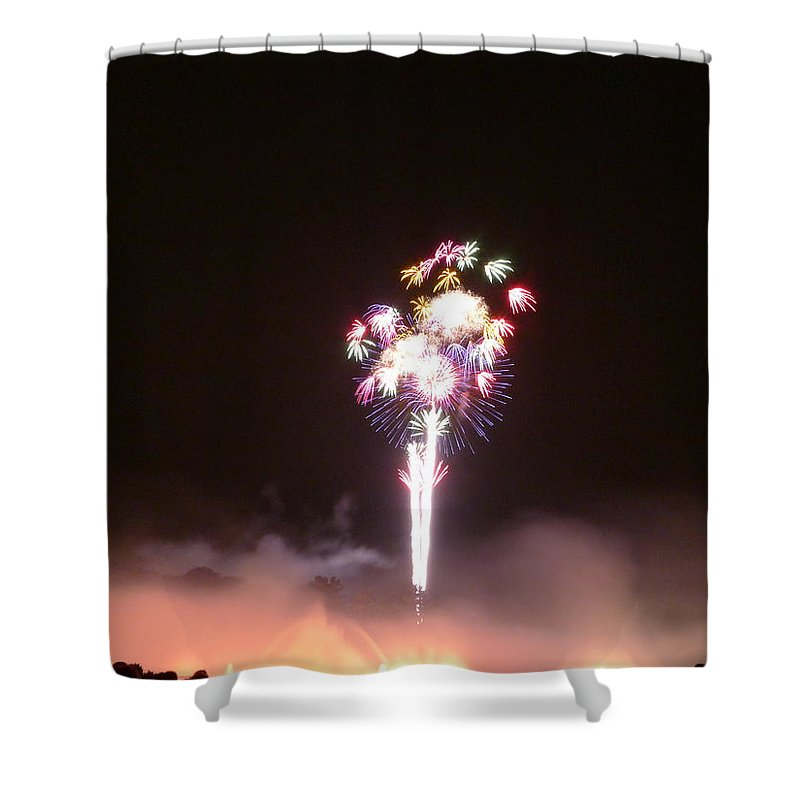 Flower Shower Curtain featuring the photograph Sky Bouquet by Richard Reeve