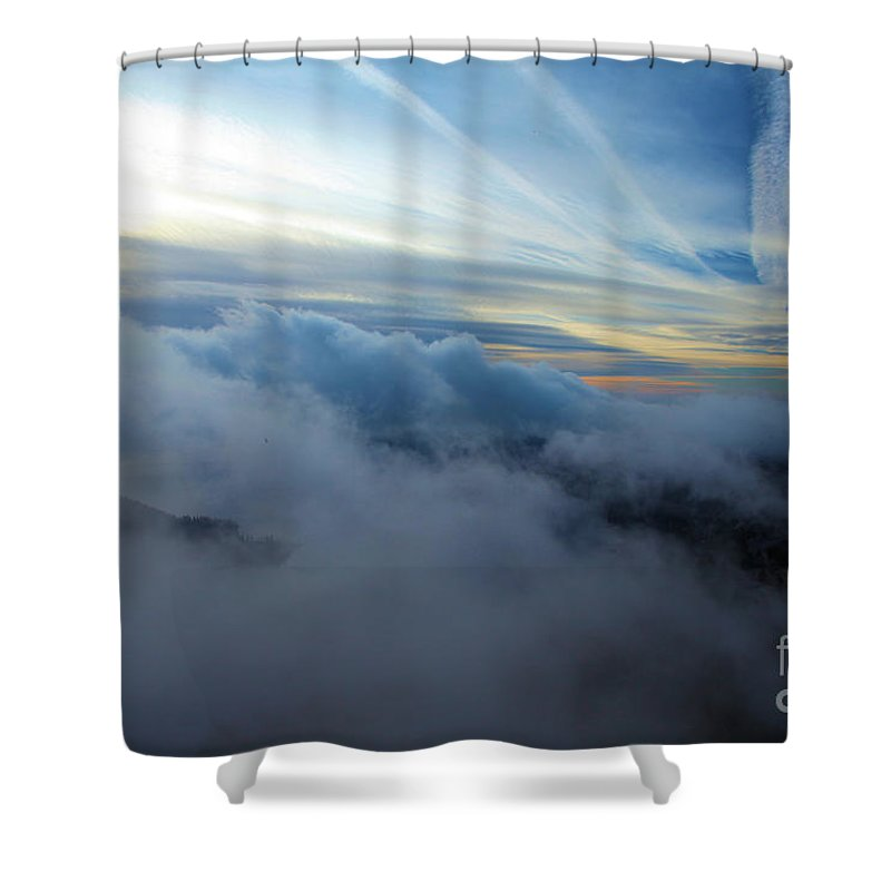 Crater Lake National Park Shower Curtain featuring the photograph Sky Painting by Adam Jewell