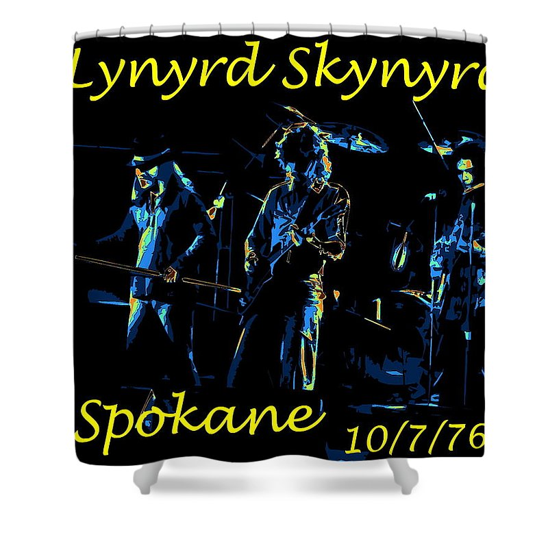 Lynyrd Skynyrd Shower Curtain featuring the photograph L S In Spokane 1 by Ben Upham
