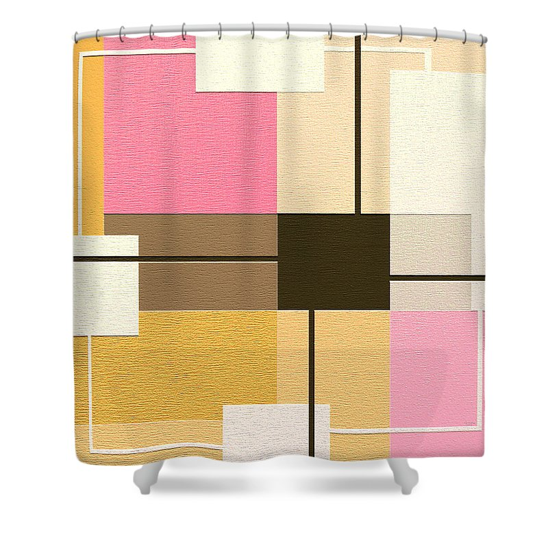 Abstract Art Shower Curtain featuring the painting Slide by Ely Arsha