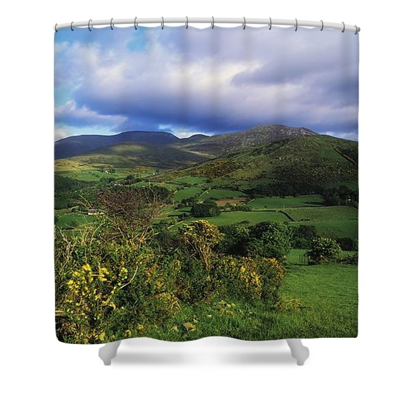 Co. Down Shower Curtain featuring the photograph Slieve Bearnagh, Mourne Mountains, Co by The Irish Image Collection