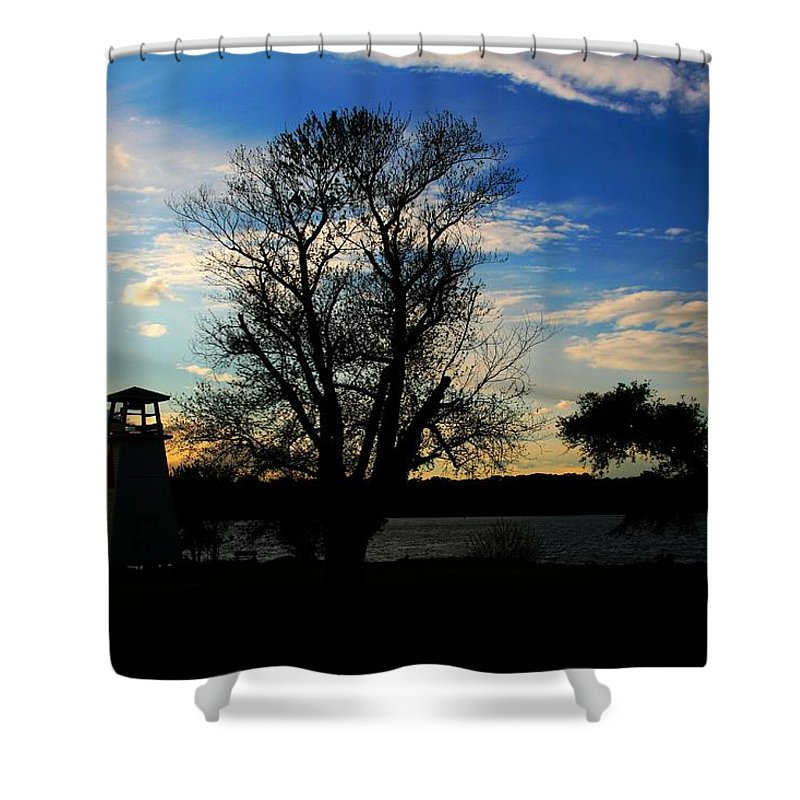 Sunset Shower Curtain featuring the photograph Sloe Down by Phil Cappiali Jr