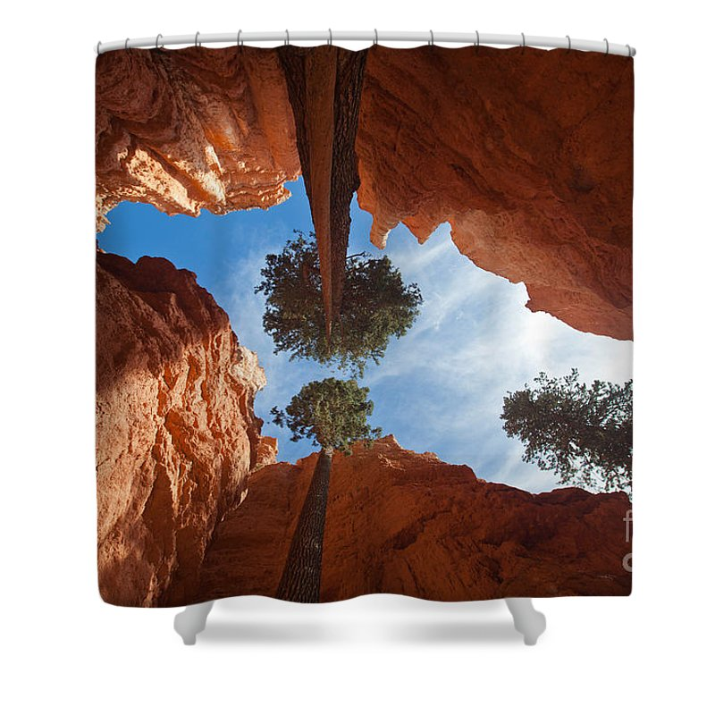 Wall Street Shower Curtain featuring the photograph Slot Canyon by Greg Dimijian