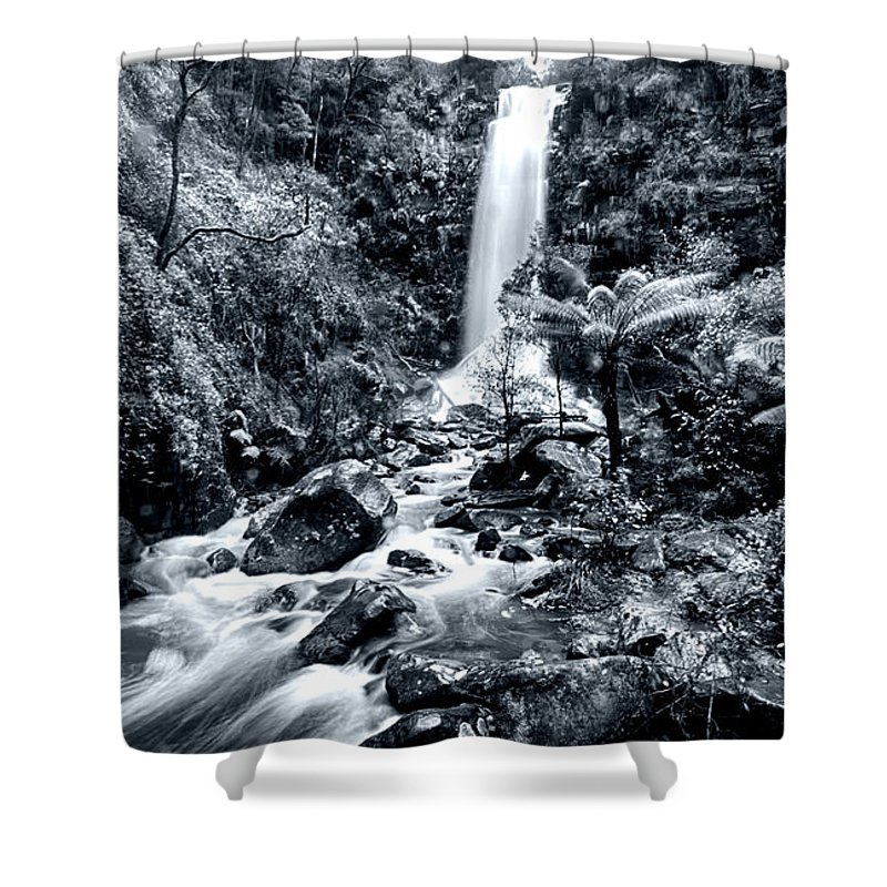Erskine Fall Shower Curtain featuring the photograph Smooth Waters by Douglas Barnard