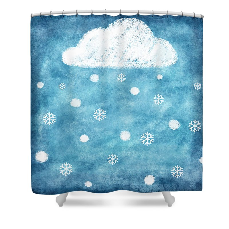 Art Shower Curtain featuring the photograph Snow Winter by Setsiri Silapasuwanchai