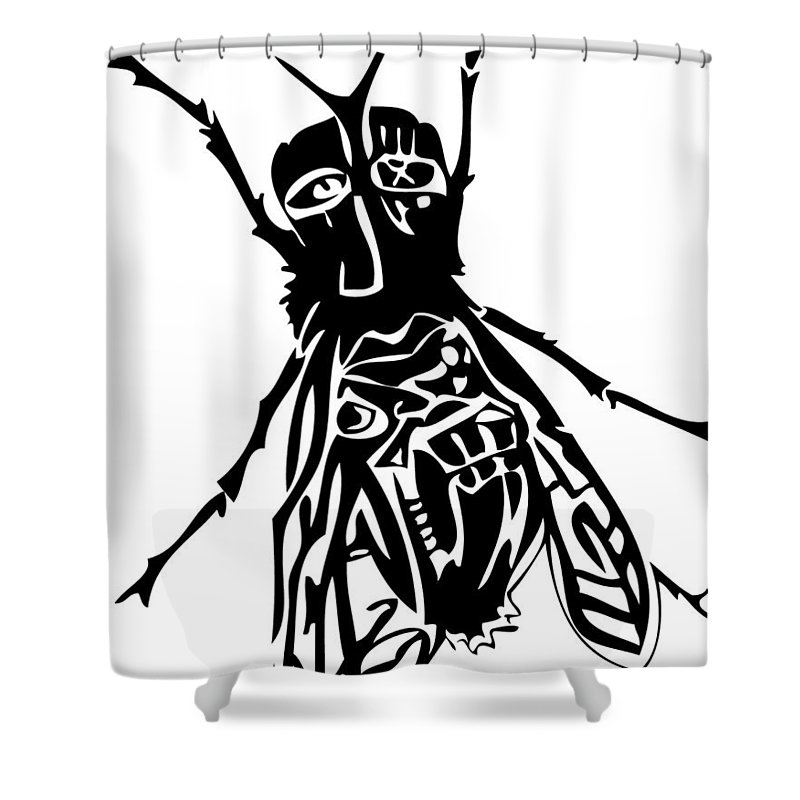 Fly Shower Curtain featuring the digital art So Fly by Kamoni Khem