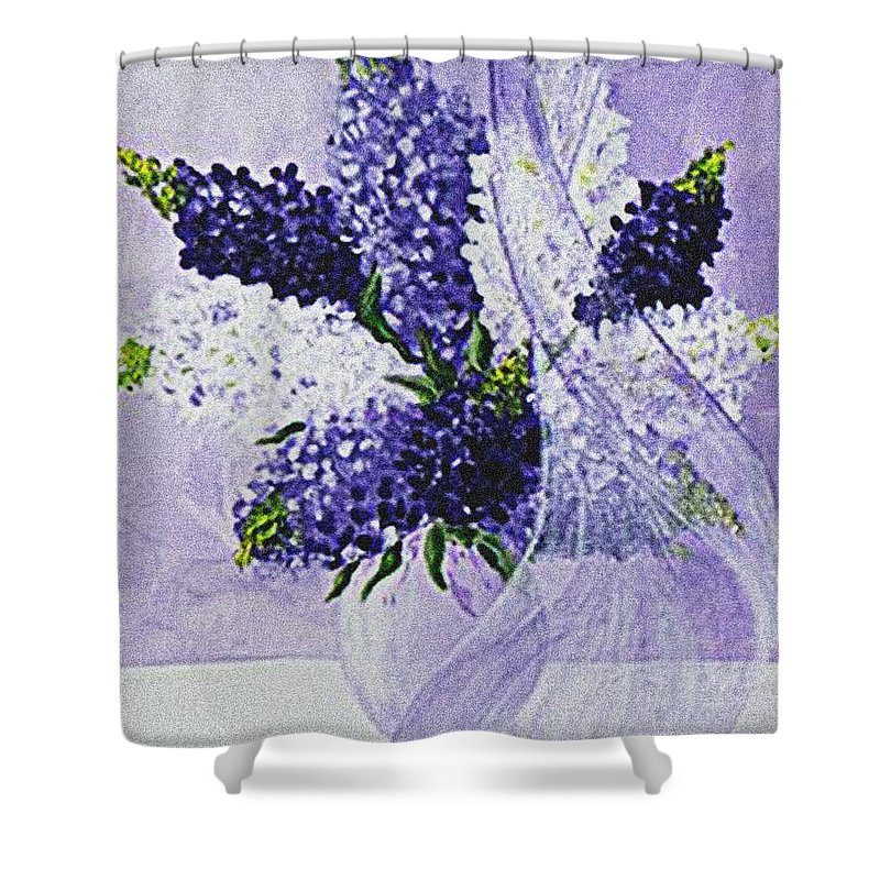 Lavender Shower Curtain featuring the painting Soft Breeze by Kume Bryant