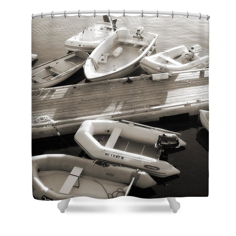 Maine Shower Curtain featuring the photograph Softly Floating by Scott Norris
