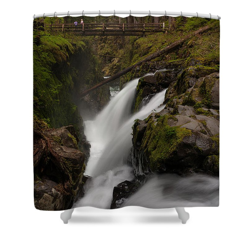 Olympic National Park Shower Curtain featuring the photograph Sol Duc Flow by Mike Reid