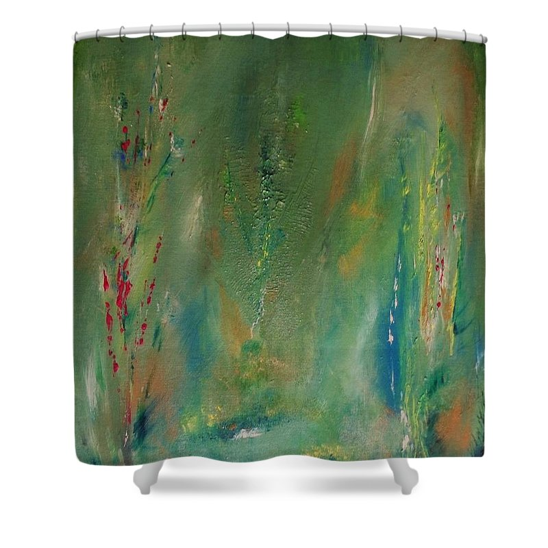 Acrylic Shower Curtain featuring the painting Solace For The Soul by Robin Monroe