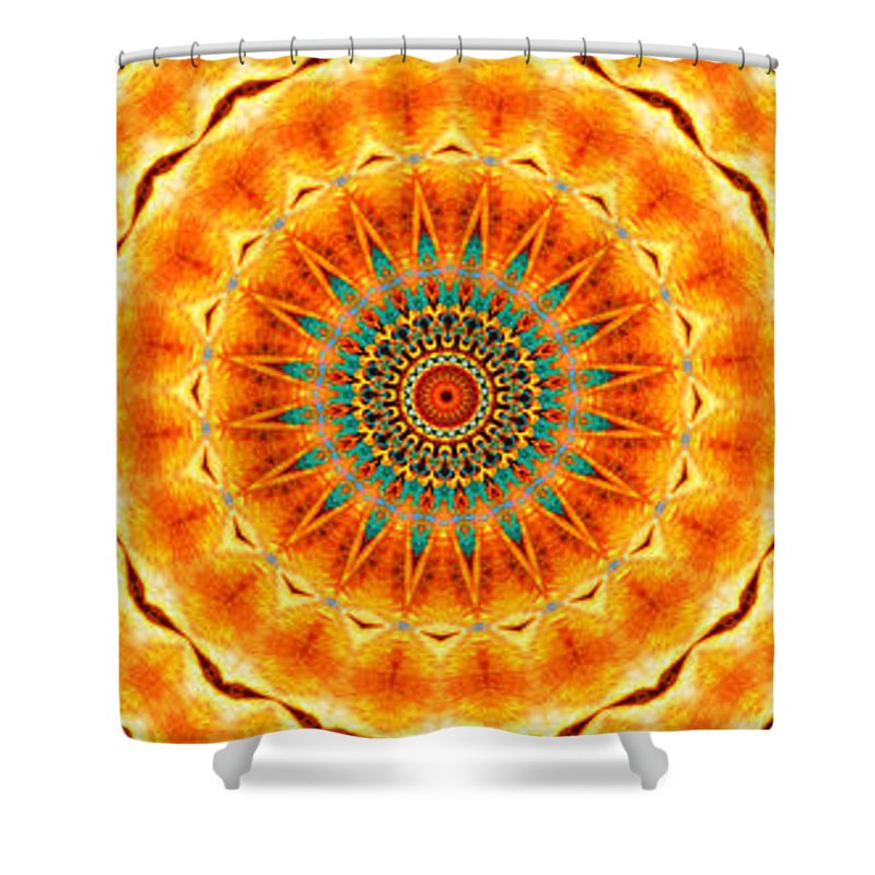 Kaleidoscope Shower Curtain featuring the painting Solar Wind by Adam Vance