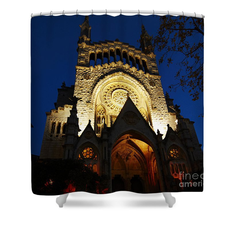Soller Shower Curtain featuring the photograph Soller Cathedral by Agusti Pardo Rossello