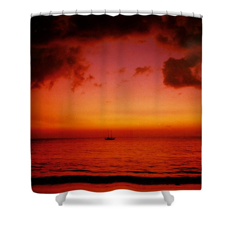 Sunset Shower Curtain featuring the photograph Solo by Kurt Van Wagner