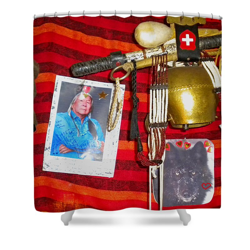 Colette Shower Curtain featuring the photograph Some Of Colettes Friends In The Winter When It Is Cold Ouside by Colette V Hera Guggenheim