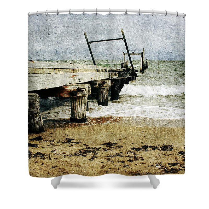 Beach Shower Curtain featuring the photograph Soul Reaver by Andrew Paranavitana