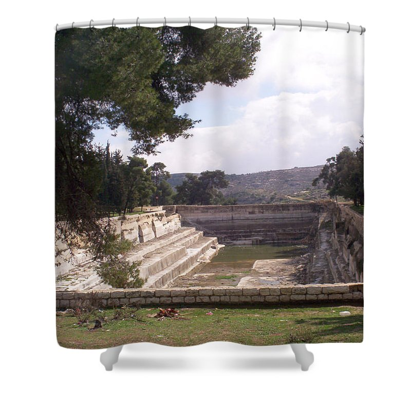 Solomon's Pools Shower Curtain featuring the photograph South Pool by Munir Alawi