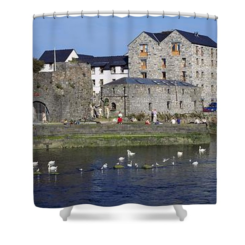 Belfast Shower Curtain featuring the photograph Spanish Arch, Galway City, Ireland by The Irish Image Collection