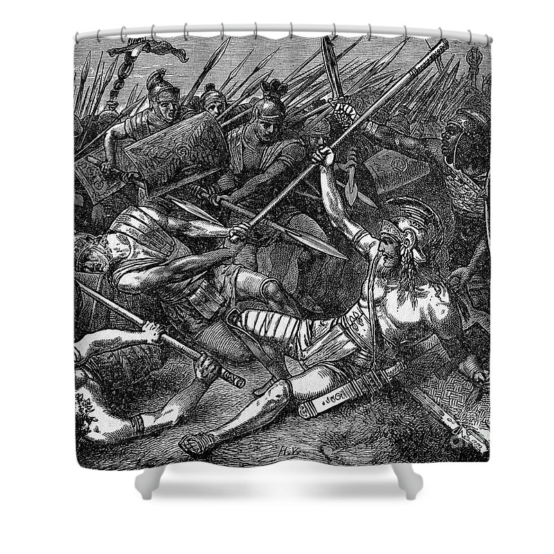71 B.c Shower Curtain featuring the photograph Spartacus (d.71 B.c.) by Granger