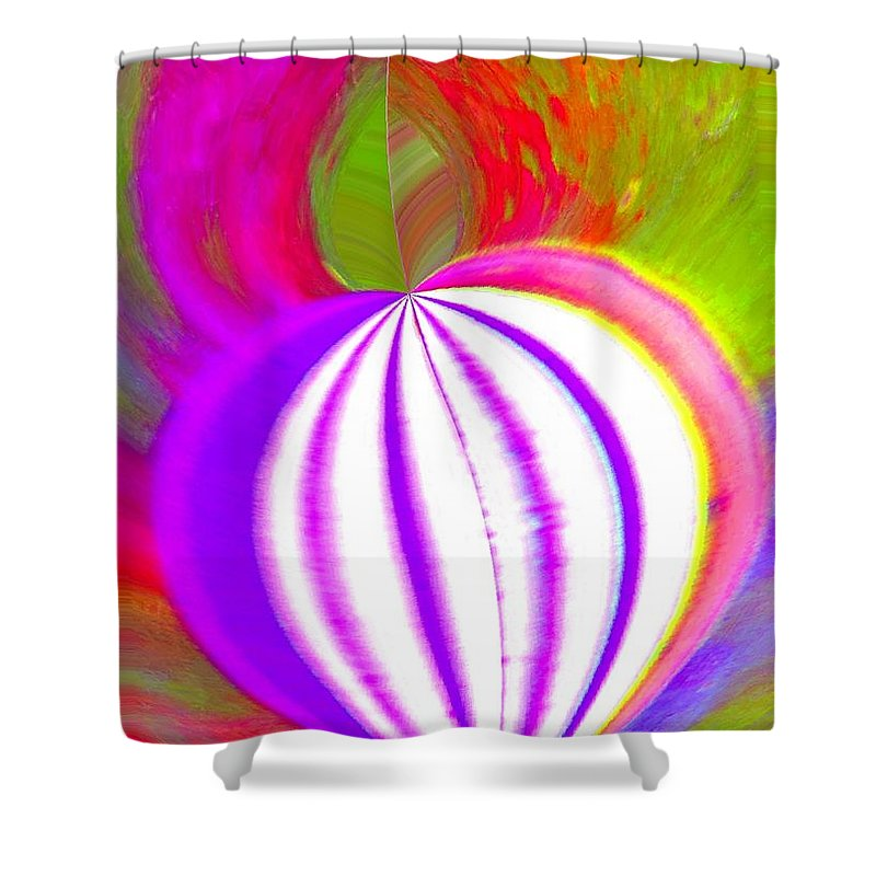 Abstract Shower Curtain featuring the photograph Spinner by Rrrose Pix