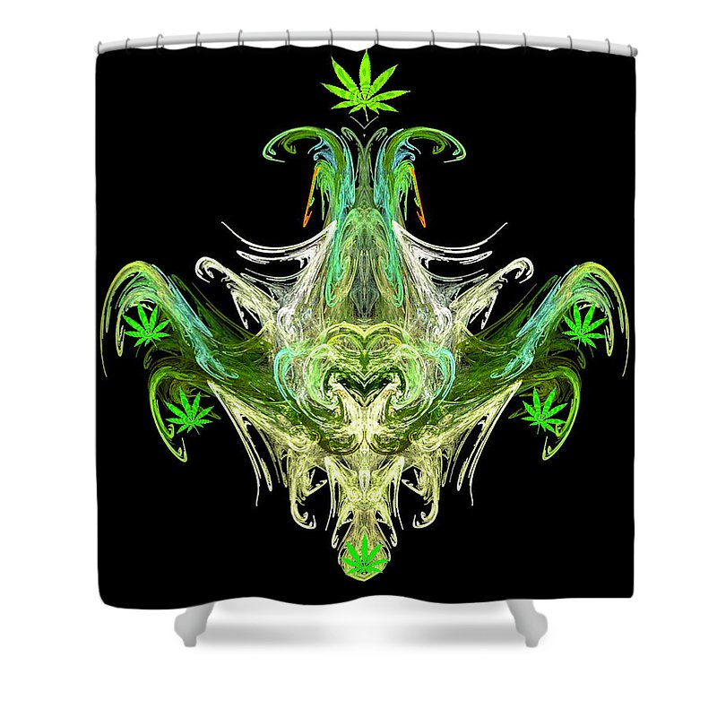 Spirit Shower Curtain featuring the digital art Spirit Of The Leaf by Diana Haronis