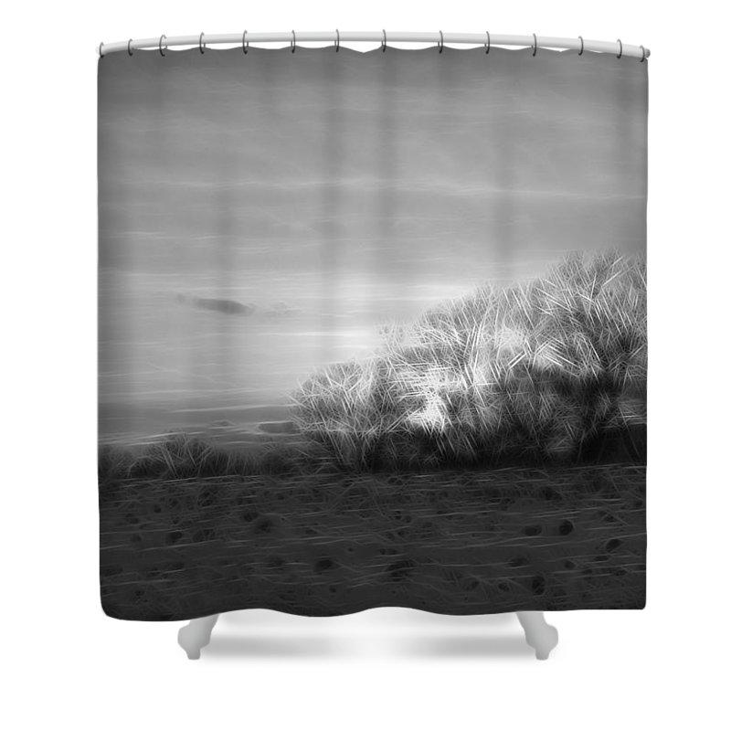 Trees Shower Curtain featuring the digital art Spirit Trees Sparkle by Rhonda Barrett